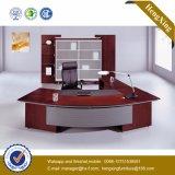 丸型の革Padedの机のベニヤの執行部表(HX-RD3125)