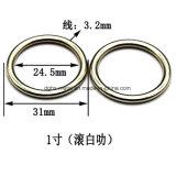 L'inarcamento rotondo in lega di zinco dell'anello del metallo caldo di vendita per il sacchetto parte gli accessori delle merci del cuoio di pattini dell'inarcamento di cinghia (Yk888, Yk889)