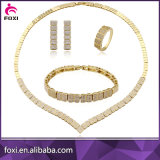 두바이 24K 금 여자를 위한 입방 지르코니아 보석 세트