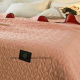 Edredón acolchado rojo 100% del algodón del estilo americano para los lechos