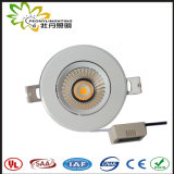 2018 Novo design de LED de 7 w luz para baixo, IP44 Lifud Downlighting LED do condutor