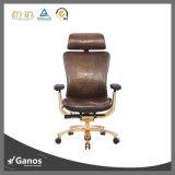 Altas altas sillas de cuero ergonómicas superiores posteriores