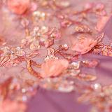 Madre del satén del mantón de Tulle de los vestidos de noche del mantón del cordón de la alineada de la novia