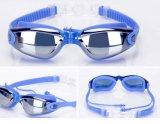 Chapado Anti-Fog gafas de natación con tapones de silicona