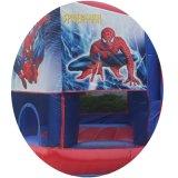 6*5*3mのスパイダーマンの膨脹可能な警備員は、広州の空気公園Inflatablesの弾力がある城卸し売りする