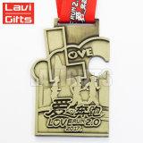 Marathon de sport d'émail de bonne qualité fonctionnant emballant le module de finition d'étalage de médaille de l'honneur