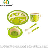 건강한 옥수수 녹말 고품질 서빙 음식 주황색 아기 고정되는 대나무 섬유 식기류 세트