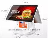 """IcpE8800dpi Window7システム15.6 """" POSシステムのための58mmプリンターが付いている二重容量性タッチ画面の金銭登録機かスーパーマーケットまたはレストラン"""