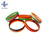 Bracelets faits sur commande bon marché d'élastique de main de silicium