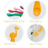 BPAは5動物の形のシリコーンの赤ん坊の挿入のスプーンを放す