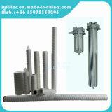 Cartuccia industriale della ferita della stringa di 0.5um pp con la custodia di filtro dell'acciaio inossidabile da 20 pollici