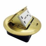 Runder goldener 2 Gruppe-Multifunktionssprung-Typ Fußboden-Kontaktbuchse