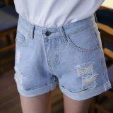 Signora rotta Jeans di Short di lavaggio con il Giro-in su sull'apertura del piedino (HDLJ0040-17)