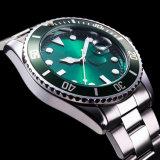 De groene Draaibare Vatting bemant de Waterdichte Sport Watch72876 van het Horloge van het Roestvrij staal