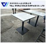 Tabella pranzante della Tabella rotonda di superficie solida bianca approvata del caffè SGS/ISO9001