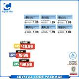 Étiquettes claires de bonne qualité de collants des prix de Digitals