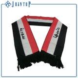 Офсетная печать вышивки Flat/3D, сплетенные футбольные болельщики шарф команды футбола шерстей ярлыка, шарф футбола