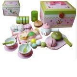 Erdbeere-Tee-Zeit-Kind-pädagogische hölzerne Spielwaren des Baby-3D