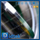 Válvula de mariposa compensada de la oblea de Wcb del borde del triple de Didtek