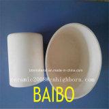 Crogiolo di ceramica di Zirconia refrattario bianco