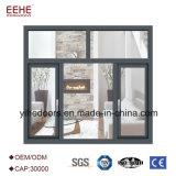 Portas de madeira do indicador de alumínio da grão com vidro oco