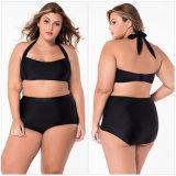 Tamanho grande de estilo vintage Shorts Biquíni Monokinis pino para cima Beach Maillot um pedaço Swimsuit Fatos de banho