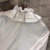 100%년 면 직물 손 잎 모양 로터스 잎 형식 셔츠 블라우스