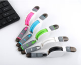 Stirata ritrattabile personalizzata 2 di marchio in 1 cavo del caricatore di dati del USB