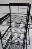 4 층 금속 철사 명물은 제품 선반 슈퍼마켓 필수품 진열대를 저장한다