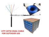 Heißes Verkaufs-Vernetzungs-Kabel Cat5e für im Freien Doppelumhüllung