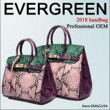 Мешок Crossbody повелительницы мешка кожаный сумки повелительницы плеча Hnadbag неподдельной кожи сумок женщин столкновения 100% реальный кожаный с картиной Emg5194 кожи змейки