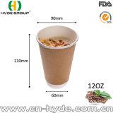 최상 16oz Heat-Insulated Kraft 두 배 벽 컵