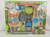 Playhouse Toy-Little Plástico Explorer Camping Definir DOM