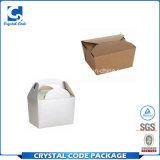 Естественный многоразовый прямоугольный упаковывать коробки еды