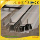 Ángulo de aluminio estándar sacado de la protuberancia para la construcción industrial