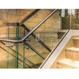 상업적인 건물 계단 방책 알루미늄 U 채널 유리제 방책