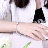 Joyería de plata de la plata de la manera de la pulsera de 925 de la flor mujeres de plata del brazalete