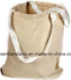Il marchio su ordinazione dei prodotti della fabbrica della Cina ha stampato il sacchetto dell'elevatore del Tote della tela di canapa del cotone