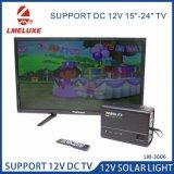 12V LED lámpara solar portátil con ventilador de puerto de carga
