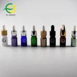 10ml de aceite esencial de revestimiento de color verde botella con gotero plástico