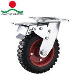 Hochleistungs8 Zoll-Schwenker-Fußrolle, Eisen-Nabe und Gummi-Schritt-Fußrolle