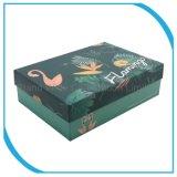 ペーパー靴箱、カスタムフラミンゴの包装のギフト用の箱
