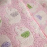 カスタマイズされたデザイン赤ん坊の柔らかいプラシ天毛布