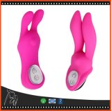 7 die G-Punkt Kaninchen-Doppelt-Ohr-Massagedildo-Zerhacker-Geschlechts-Spielzeug Multi-Flirten