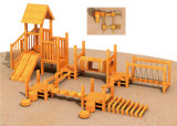 Recurso Winnower comercial de madeira equipamentos de playground para crianças de desempenhar o papel de madeira Hf-17001