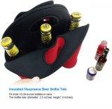 Wasser-Flaschen-TrägerTote isolierte Neopreane 6 Sätze, Wein-Flaschen-, diebeutel mit sicherem den Griff tragen (rot)