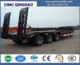 Cimc 3 Assen Fuwa 80 van de Vlakke Semi Ton Aanhangwagen van de Vrachtwagen Lowbed