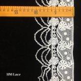 10.5cm natürliche Hessian Jutefaser-Spitze-Ordnungs-rustikale Leinwand-Gewebe-Spitze-Ordnungen für Hauptkissen-Dekoration mit Gänseblümchen-Blume Hmhb1353