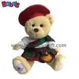 Brinquedo de presente personalizado brinquedo de ursinho de peluche escocês
