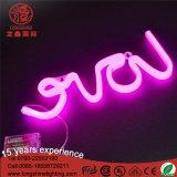 Het Liefde Gestalte gegeven Teken van het Neon van de Nacht USB Lichte voor de Decoratie van de Slaapkamer van de Baby